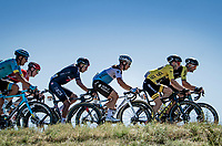 Strong side winds & an agressive Team Bora-Hansgrohe has split the peloton into 3 big groups from early on in the race.<br /> Yellow jersey / GC leader Adam Yates (GBR/Mitchelton-Scott) is present in the first group, as is defending champion Egan Bernal (COL/Ineos Grenadiers).<br /> <br /> Stage 7 from Millau to Lavaur (168km)<br /> <br /> 107th Tour de France 2020 (2.UWT)<br /> (the 'postponed edition' held in september)<br /> <br /> ©kramon