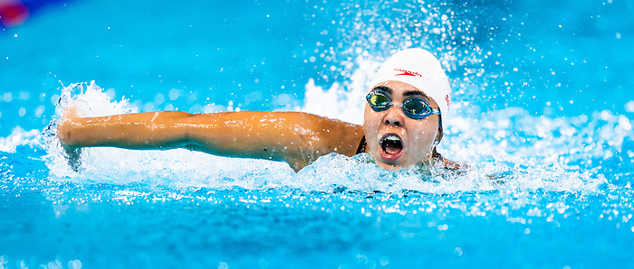 Lima, Peru -  26/August/2019 -  Myriam Soliman competes in the women's butterfly S6 at the Parapan Am Games in Lima, Peru. Photo: Dave Holland/Canadian Paralympic Committee.
