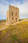 Ruins of Wheal Coates Tin Mine, St Agnes Head, Cornwall, England