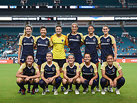Miami Gardens, Florida - Sunday, July 29, 2018: North Carolina Courage vs Olympique Lyonnais Féminin at the Hard Rock Stadium.