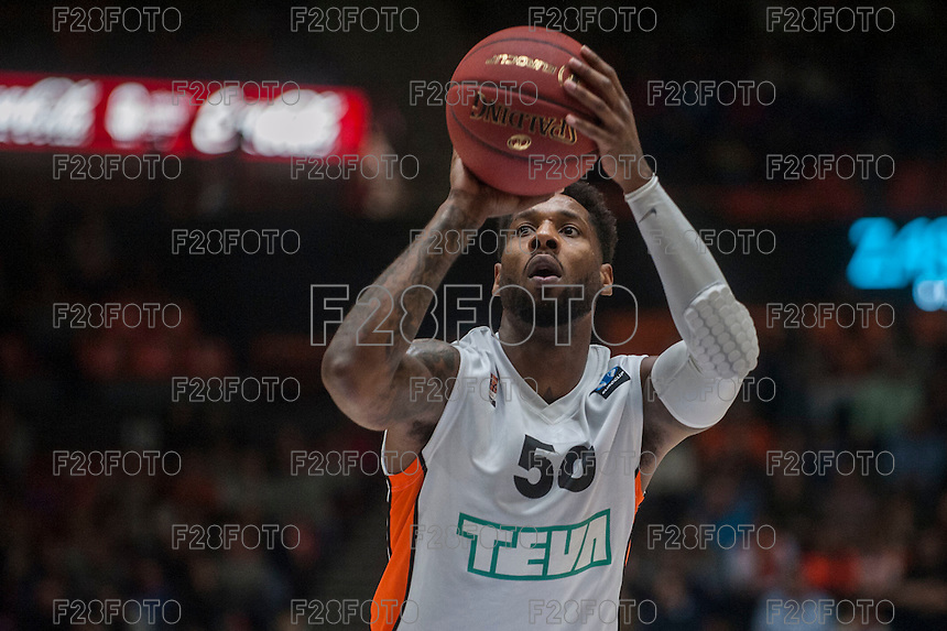 VALENCIA, SPAIN - December 2: DE Andre Kane during EUROCUP match between Valencia Basket Club and Ratiopharm ULM at Fonteta Stadium on December 2, 2015