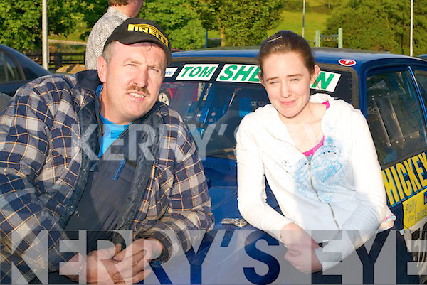 John Hickey and Sorcha Kelly, Headford, Killarney, line up at Rally of the Lakes in Killarney last Friday evening..