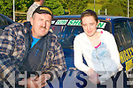John Hickey and Sorcha Kelly, Headford, Killarney, line up at Rally of the Lakes in Killarney last Friday evening..
