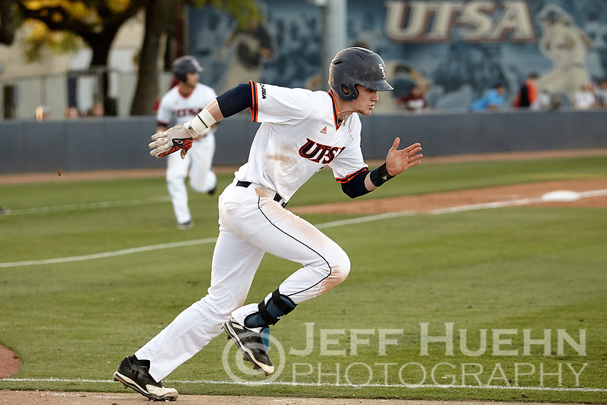 SAN ANTONIO, TX - MARCH 24, 2017: The University of Texas at San Antonio Roadrunners fall to the Old Dominion University Monarchs 9-1 at Roadrunner Field. (Photo by Jeff Huehn)