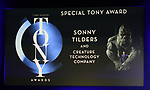 Special Tony Award to Sonny Tilders and Creature Technology Company during The 73rd Annual Tony Awards Nominations Announcement on April 30, 2019 in New York City.