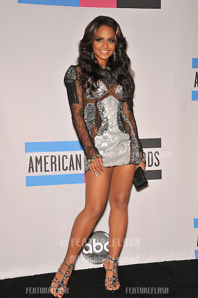 Christina Milian at the 2010 American Music Awards at the Nokia Theatre L.A. Live in downtown Los Angeles..November 21, 2010  Los Angeles, CA.Picture: Paul Smith / Featureflash