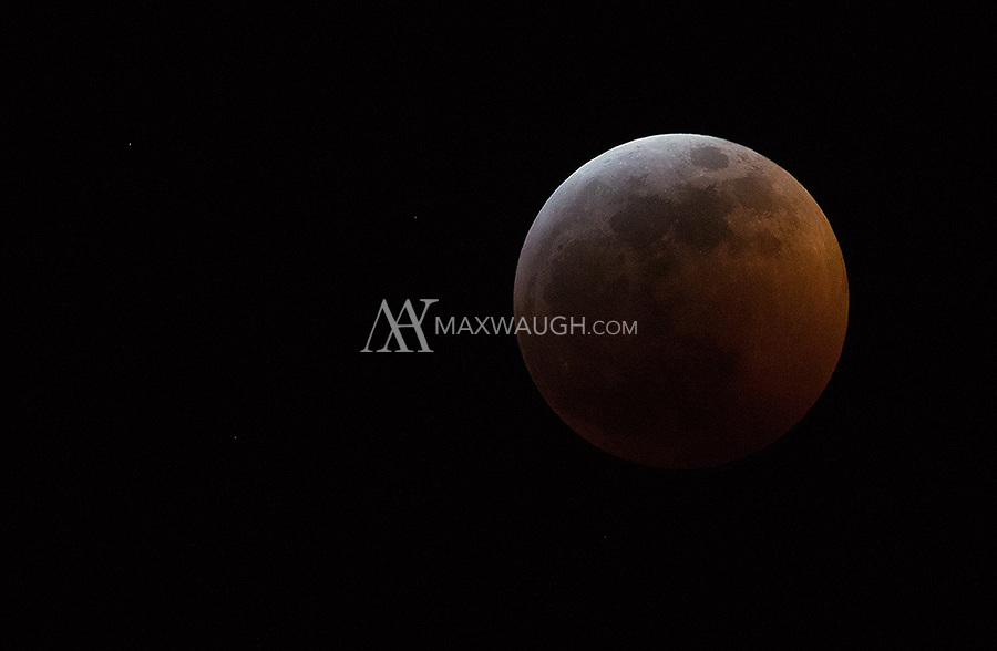 """On January 20th, we experienced a """"super blood wolf moon"""" eclipse. For once, we had clear skies in Seattle and I was able to photograph it from my deck."""