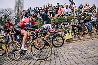 Amalie Dideriksen at the top of the Muur,  16th Ronde Van Vlaanderen<br /> <br /> Elite Womans Race (1.WWT)<br /> <br /> One day race from Oudenaarde to Oudenaarde<br /> ©Jojo Harper for Kramon at the top of the Muur,  16th Ronde Van Vlaanderen<br /> <br /> Elite Womans Race (1.WWT)<br /> <br /> One day race from Oudenaarde to Oudenaarde<br /> ©Jojo Harper for Kramon