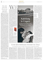 Die Welt (German national daily) on Hungarian literature, February 2015. Historical picture research by est&ost.