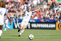 Cary, NC - Sunday October 22, 2017: Becky Sauerbrunn during an International friendly match between the Women's National teams of the United States (USA) and South Korea (KOR) at Sahlen's Stadium at WakeMed Soccer Park. The U.S. won the game 6-0.