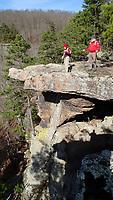NWA Democrat-Gazette/FLIP PUTTHOFF<br />Karen and Tom Mowry savor the view Dec. 1 2017 at Pedestal Rocks Scenic Area.