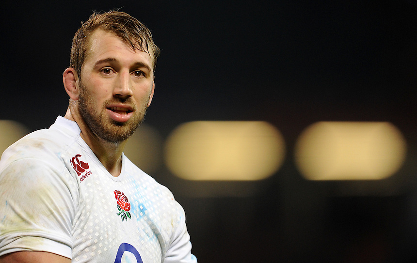 England's Chris Robshaw at the final whistle<br /> <br /> Photo by Ian Cook/CameraSport<br /> <br /> Rugby Union - RBS 6 Nations Championships 2015 - Wales v England - Friday 6th February 2015 - Millennium Stadium - Cardiff<br /> <br /> &copy; CameraSport - 43 Linden Ave. Countesthorpe. Leicester. England. LE8 5PG - Tel: +44 (0) 116 277 4147 - admin@camerasport.com - www.camerasport.com