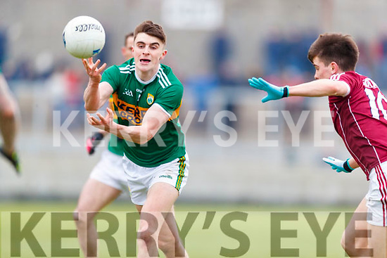 Séan O'Shea Kerry in action against Sean Kelly Galway in the Allianz Football League Division 1 Round 4 match between Kerry and Galway at Austin Stack Park, Tralee, Co. Kerry.