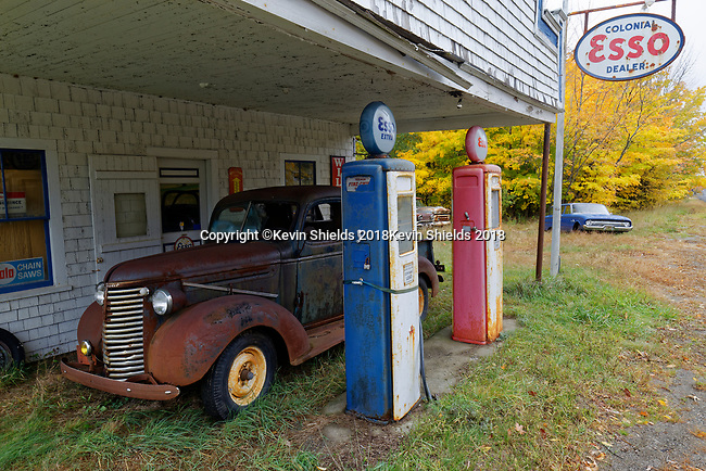 Old gas station, Maine, USA