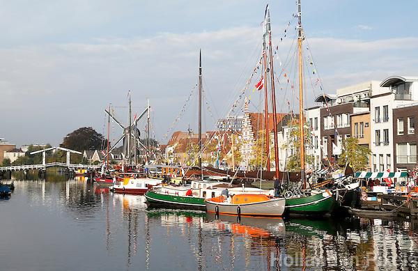 Nederland Leiden 2015 10 03 . Binnenstad van Leiden. Het Galgewater. Foto Berlinda van Dam / Hollandse Hoogte