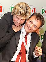NAPOLI 15/06/2012 CONFERENZA NAZIONALE PER IL LAVORO DEL PARTITO DEMOCRATICO.NELLA FOTO    SUSANNA CAMUSSO STEFANO FASSINA.FOTO CIRO DE LUCA.