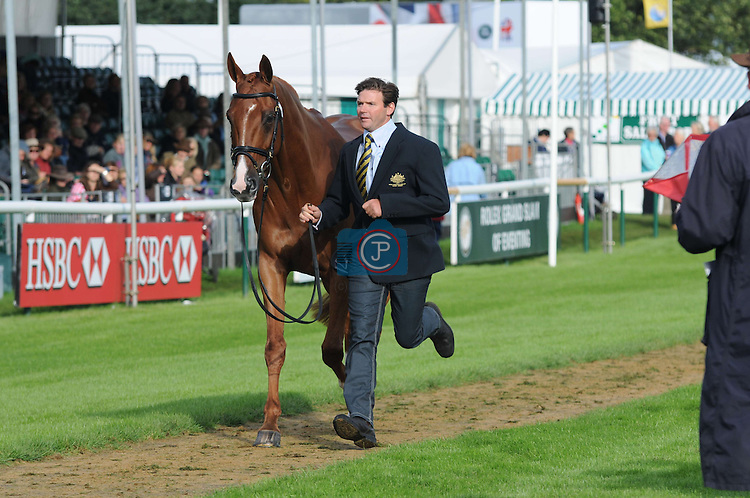 Clayton fredericks & Walterstown Don at the 1st Veterinary Inspection at the 2012 Land Rover Burghley Horse Trials in Stamford, Lincolnshire, England, UK.