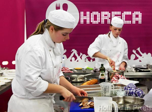Wedstrijd voor horeca medewerkers tijdens de Skills Masters beurs