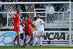 16 December 2007: A shot by Ohio State hits the post of the goal. The Wake Forest University Demon Deacons defeated the Ohio State Buckeyes 2-1 at SAS Stadium in Cary, North Carolina in the NCAA Division I Mens College Cup championship game.