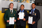 Rugby League Boys finalists Jethro Friend, Siliva Havili and John Palavi. ASB College Sport Young Sportsperson of the Year Awards held at Eden Park, Auckland, on November 11th 2010.