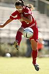 Aimee Bresani, of Maryland, on Sunday, October 16th, 2005 at Duke University's Koskinen Stadium in Durham, North Carolina. The Duke University Blue Devils defeated the University of Maryland Terrapins 1-0 during an NCAA Division I Women's Soccer game.