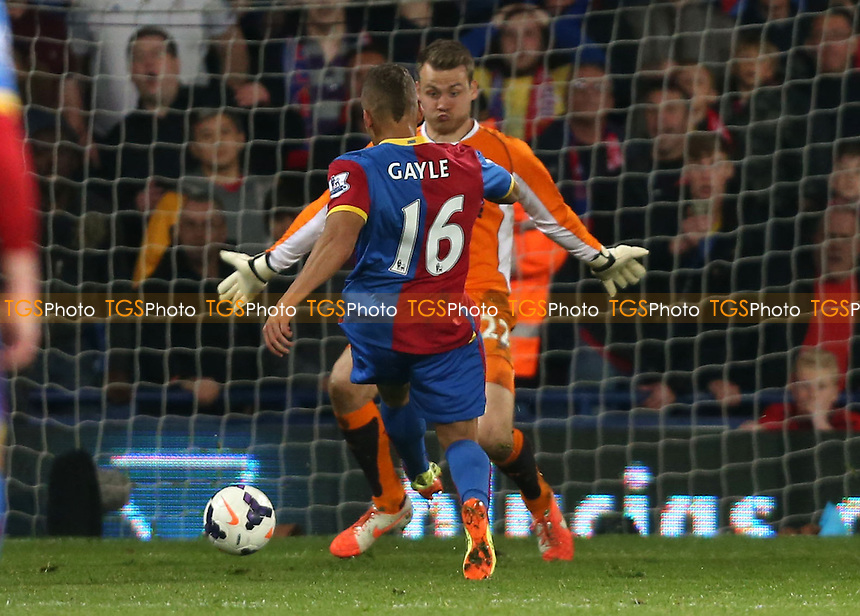 Dwight Gayle scores the 3rd goal for Crystal Palace - Crystal Palace vs Liverpool, Barclays Premier League at Selhurst Park, Crystal Palace, London - 05/05/14 - MANDATORY CREDIT: Rob Newell/TGSPHOTO - Self billing applies where appropriate - 0845 094 6026 - contact@tgsphoto.co.uk - NO UNPAID USE