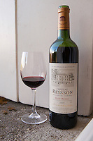 reserve 2005 with glass chateau reysson haut medoc bordeaux france