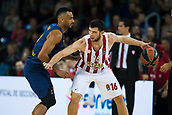 3rd November 2017, Palau Blaugrana, Barcelona, Spain; Turkish Airlines Euroleague Basketball, FC Barcelona Lassa versus Olympiacos Piraeus; #16 PAPANIKOLAOU, KOSTAS of OLYMPIACOS PIRAEUS in action during the match of round 5 of regular season in the 2017/2018 Turkish Airlines EuroLeague