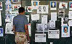 A wall outside a hospital in Benghazi, Libya, is plastered with photos of people missing since fighting broke out between rebels and those loyal to Libyan strongman Moammar Gadhafi. Families have posted the notices hoping for information about the fate of their loved ones.