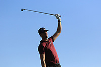 Sebastian Heisele (GER) on the 14th tee during Round 3 of the Challenge Tour Grand Final 2019 at Club de Golf Alcanada, Port d'Alcúdia, Mallorca, Spain on Saturday 9th November 2019.<br /> Picture:  Thos Caffrey / Golffile<br /> <br /> All photo usage must carry mandatory copyright credit (© Golffile | Thos Caffrey)
