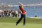 Kirsten Keyser on 18th fairway at Pebble Beach Golf links