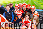 Sarah Connelly, William O'Shea, Kathleen Connolly, Liam Connelly, Liam Connelly, Dan Connelly, Siobhan Connelly, Emma Connelly, Ciara Connelly, and Aoife Connelly. Brosna supporters at the Junior Football All Ireland Club Final in Croke Park on Saturday.