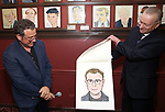Michael Grief and Max Klimavicius attend the Michael Grief Sardi's Portrait Unveiling at Sardi's on 4/27/2017 in New York City.