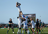 17th November 2019; The Sportsground, Galway, Connacht, Ireland; European Rugby Champions Cup, Connacht versus Montpellier; Kelian Galletier catches a line out for Montpellier - Editorial Use