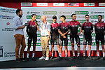 2019 Tour de France Champion Egan Bernal (COL) and Team Ineos at sign on before the 2019 Clasica Ciclista San Sebastian, running 227.3km starting and finishing in Donostia-San Sebastián, Spain. 3rd August 2019.<br /> Picture: Colin Flockton | Cyclefile<br /> All photos usage must carry mandatory copyright credit (© Cyclefile | Colin Flockton)