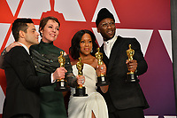 LOS ANGELES, CA. February 24, 2019: Rami Malek, Olivia Colman, Regina King & Mahershala Ali at the 91st Academy Awards at the Dolby Theatre.<br /> Picture: Paul Smith/Featureflash