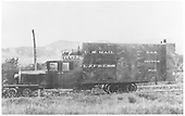 RGS Goose #2 in service in black paint.<br /> RGS  Ridgway, CO  Taken by Chione, A. G. - 8/12/1931