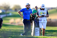 Tyrrell Hatton (ENG) on the 15th fairway during the 2nd round of the Waste Management Phoenix Open, TPC Scottsdale, Scottsdale, Arisona, USA. 01/02/2019.<br /> Picture Fran Caffrey / Golffile.ie<br /> <br /> All photo usage must carry mandatory copyright credit (© Golffile | Fran Caffrey)