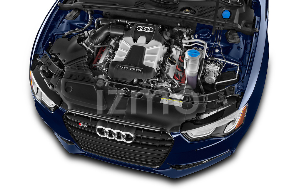 Car Stock 2017 Audi S5-Coupe 3.0T-quattro-manual 2 Door Coupe Engine  high angle detail view