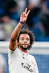 Marcelo Vieira Da Silva of Real Madrid celebrates after winning the UEFA Champions League 2018-19 match against Roma at Estadio Santiago Bernabeu on September 19 2018 in Madrid, Spain. Photo by Diego Souto / Power Sport Images