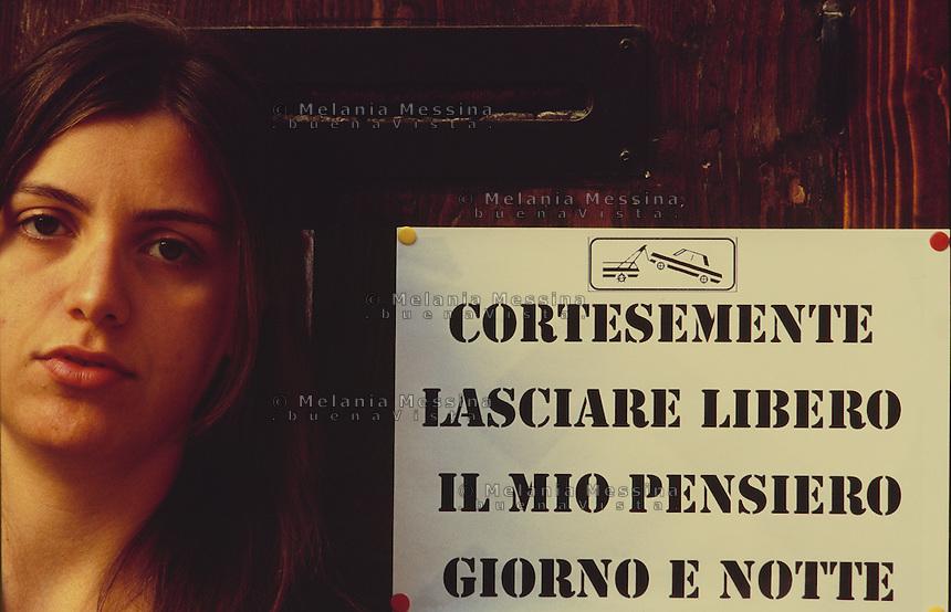 Portrait of a student in Palermo.<br /> Ritratto di una studentessa universitaria