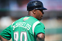 Dayton Dragons manager Delino DeShields #90 during a Midwest League game against the Fort Wayne TinCaps at Parkview Field on August 19, 2012 in Fort Wayne, Indiana.  Dayton defeated Fort Wayne 5-1.  (Mike Janes/Four Seam Images)