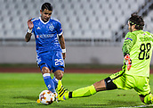 28th September 2017, Partizan Stadium, Belgrade, Serbia; UEFA Europa League group stage, Partizan versus Dynamo Kiev; Goalkeeper Vladimir Stojkovic of Partizan blocks the shoot of Midfielder Derlis Gonzalez of Dynamo Kiev