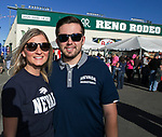 Kelsey and William during the Reno Rodeo Nevada Blue Night on Wednesday, June 26, 2019.