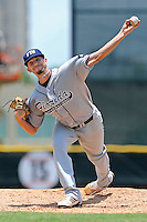 5 June 2010:  FIU's Corey Polizzano (6) pitches in the fourth inning as the Dartmouth Green Wave defeated the FIU Golden Panthers, 15-9, in Game 3 of the 2010 NCAA Coral Gables Regional at Alex Rodriguez Park in Coral Gables, Florida.
