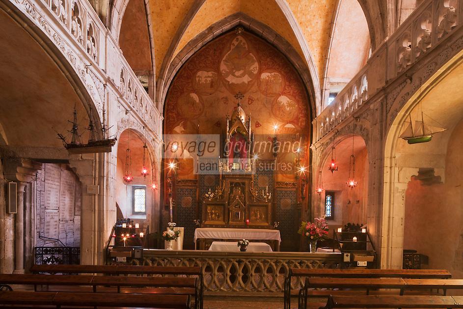 Europe/Europe/France/Midi-Pyrénées/46/Lot/Rocamadour: Cité religieuse - la chapelle Notre-Dame qui contient la statue reliquaire romane de la Vierge Noire