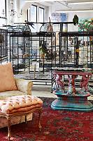 vintage armchair and ottoman