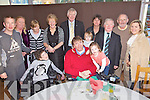 Enjoying themselves at the North Kerry Branch of the Irish Wheelchair Association Christams Lunch held in The Earl of Desmond Hotel on Sunday were front l/r Linday Leahy, Terry, Mark & Millie O'Brien, back l/r Anthony Ward, Mary Jennings, Mary Ward, Helena Leahy, James Kennedy, Ann Connolly, Pat Mahony, James Ryan and Theresa O'Brien.