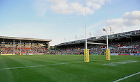 Leicester, England. General View of Welford Road during the Aviva Premiership match between Leicester Tigers and Harlequins at Welford Road on September 22, 2012 in Leicester, England.