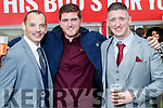 Shane O'Halloran (Ballyheigue), Eoin Doody (Kilflynn) and Mike Kennedy (Tralee), pictured at Listowel Races on Friday last.